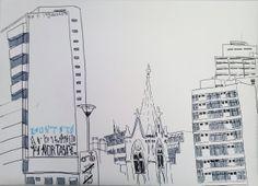 Vista da Praça Roosevelt, SP.CACHECOL DE COBRA