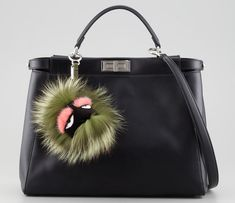 Add A Little Monster To Your Bag With a Fendi Fur Charm - PurseBlog