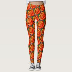 Yellow Red Marigold Leggings - red gifts color style cyo diy personalize unique