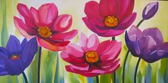 cuadros con flores pintados al oleo - Buscar con Google