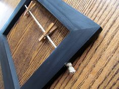 4x6 Black Wood Picture Frame modern farmhouse shabby chic country living hipster nursery room
