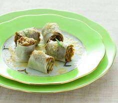 Mini involtini di porri e lenticchie al rosmarino