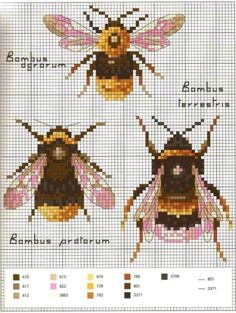 Bee Needlepoint Pattern – Bastelarbeiten – sewing - New Ideas Cross Stitch Animals, Cross Stitch Kits, Cross Stitch Charts, Cross Stitch Designs, Cross Stitch Patterns, Needlepoint Designs, Needlepoint Stitches, Needlepoint Canvases, Bee Embroidery