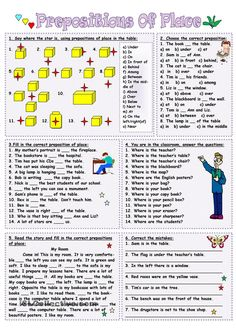 Six exercises on the topic for practicing the use of the prepositions of place. Grammar: Prepositions, Prepositions of place Grammar Games, Grammar And Vocabulary, Grammar Lessons, English Vocabulary, English Test, Kids English, English Lessons, Learn English, English Teaching Materials