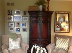 Client living room-four chairs and ottoman furniture arrangement