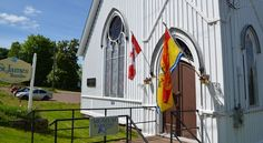 This wooden framed church, built in features a look into the making of textiles in the and offers demonstrations on the antique looms. Textile Museum, Fair Grounds, Textiles, History, Antiques, Building, Fun, Antiquities, Buildings