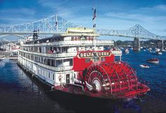 Delta Queen paddleboat on the Ohio River**