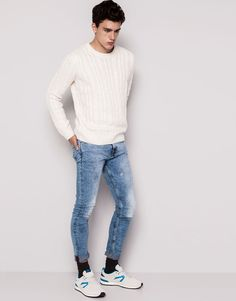 JEANS SKNINNY FIT - BLEU Super Skinny Jeans, Latest Fashion Trends, The Selection, Trainers, Men's Fashion, Normcore, Marketing, Fitness, Women