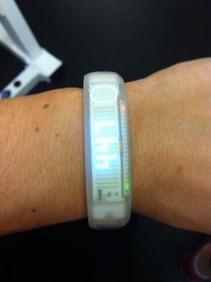 #supportforeverymove Nike White Ice fuel band. Keeps track of your movement and calories! Nifty.
