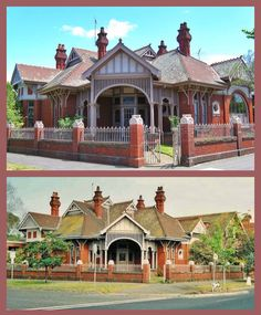 Colbinabbin, Middle Park, is an Edwardian Queen Anne style residence constructed in 1909 by local engineer John Raven Fisher. The building remains intact, complete with its red brick and cast iron palisade fence, stained glass windows and the multi facete Edwardian House, Victorian Era, Palisade Fence, 7 Continents, Melbourne House, Slate Roof, Homesteads, Red Bricks, Stained Glass Windows