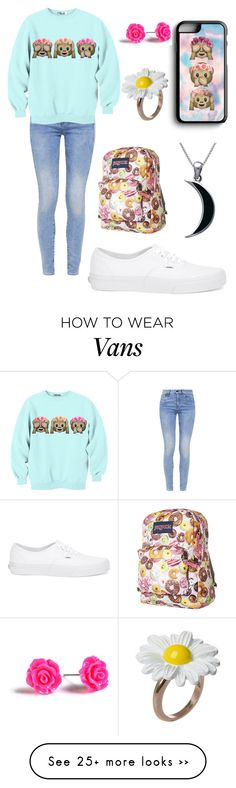 """""""В школу"""" by lala-verdieva on Polyvore featuring Samsung, G-Star, Vans, JanSport and Carolina Glamour Collection"""