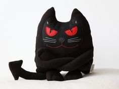 Toy Animals & Monster Toys – Cat Behemot Toy, Cat Plush, Soft Toy, Eco Toy – a unique product by ecotule on DaWanda