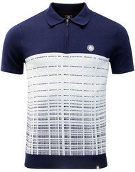 Croston PRETTY GREEN Mod Jacquard Dash Knit Polo in navy: http://www.atomretro.com/26741 #prettygreen #knittedpolo #modpolo #modfashion #poloshirt #polotop #atomretro #mensfashion #mensstyle
