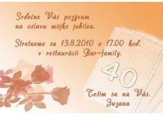 Pozvánka na oslavu jubilea - JU015