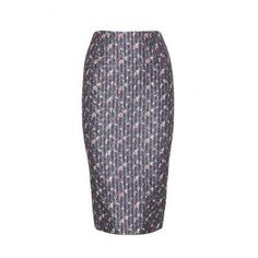 Victoria Beckham - Printed pencil skirt #midiskirt #victoriabeckham #officeday #women #designer #covetme