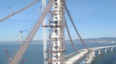 east bay | Video: East span of the Bay Bridge is born | Equipment World ...