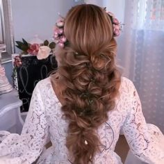 Easy Hairstyles For Long Hair, Bride Hairstyles, Braided Hairstyles For Wedding, Hairstyle Men, Style Hairstyle, Hairstyles 2018, Medium Hairstyles, Long Hair Wedding Styles, Short Hair Styles