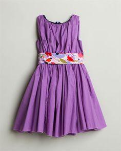 Llum Girls' 'Degas' Purple Violets Dress (2T-12)