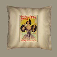 Vintage Parfums des Femmes Ad on Antique Gold by WhimsyFrills, $20.00