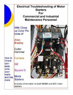 21 best books of interest images on pinterest industrial, book industrial electrical panel wiring electrical troubleshooting of motor starters for commercial and industrial maintenance personnel by l w brittian $5 54