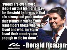 One more thought before Memorial Day is over for this year. We need to honor them every day.