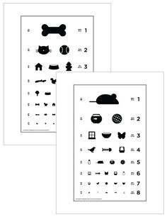 Dog & Cat Eye Charts for the office! If only animal eye exams were so easy ;)