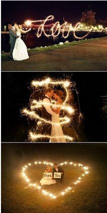 Impresionates fotos de boda en la oscuridad - Awesome wedding photos in the dark
