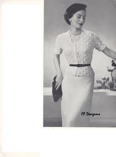 From 1950s Vintage Knitting Pattern Books – Spinnerin 117 & 118.