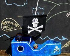 barco pirata carton