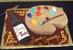 Awesome cake!! Do you agree??  — at Painting with a Twist - Texarkana, TX.