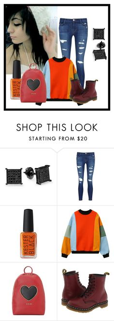 """""""Indie Look"""" by mary-sukala on Polyvore featuring Preciosa, J Brand, Love Moschino, Dr. Martens, indie, emo, colorful and fashionset"""