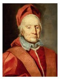243.- Clemente XI (1700-1721)  Nació en Urbino. Elegido el 8-XII-1700, murió el 19-III-1721. Cuando supo de su elección, la aceptó después de 7 días para estar seguro de su legitimidad. Culto y amante de las artes, enriqueció con antiguos códigos orientales, la biblioteca Vaticana. Terminó el 16º Año Santo (1700).