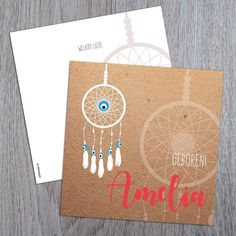 New birth announcement design - dreamcatcher evil eye