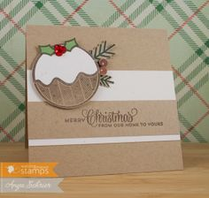 Around Christmastime, Alpine Christmas - Waltzingmouse Stamps CARDSTOCK: Kraft, Oatmeal - Wplus9; Poppy Parade, Wild Wasabi - SU! INK: Early...