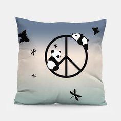 PEACE PANDA  Coussin