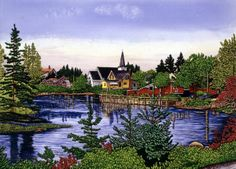 lake ~ Lakeside Village by Thelma Winter