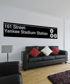 Vinyl Wall Decal Sticker Yankee Stadium Subway Sign #1284 & Little boyu0027s bedroom- for all the New York Yankees fans out there ...