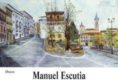 Óleos de Manuel Escutia en Caja Castilla-La Mancha Enero 2000 #CajaCastillaMancha #Cuenca #ManuelEscutia