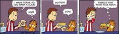 Garfield - toast