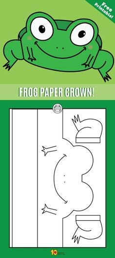 Frog Paper Crown - free printable