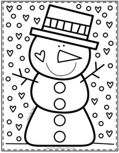Snowman Coloring Page – Coloring Club — From the Pond Holiday Coloring… - Grundschule Snowman Coloring Pages, Colouring Pages, Fairy Coloring, Winter Art, Winter Theme, Winter Club, Preschool Christmas, Kids Christmas, Preschool Winter