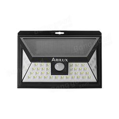 ARILUX® AL-SL11 Solar Power 44 LED PIR Motion Sensor Light Outdoor Wide Angle Waterproof Wall Lamp