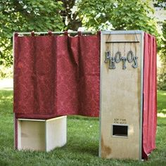 I've always dreamed of having a photobooth in my house.  This one would work just fine.