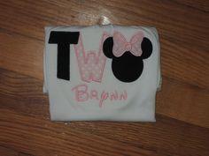 Two Minnie inspired Personalized Birthday shirt