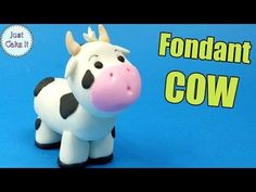How to make Fondant COW cake topper tutorial - YouTube