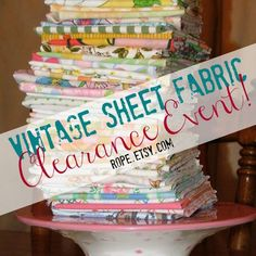 Rope.etsy.com is selling off their vintage fabric collection. Sale ends in Jan 22 2015.