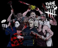 Friday the Killer Selfie with all DBD Mens Killer Horror Icons, Horror Art, Scary Movies, Horror Movies, Funny Horror, Slasher Movies, Famous Monsters, Classic Monsters, Friday The 13th