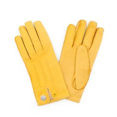 "HERMÈS, a pair of yellow lambskin gloves, ""Nervures Droites"". Written size 7 1/2.. - Vintage & Jewellery, Stockholm S201 – Bukowskis"