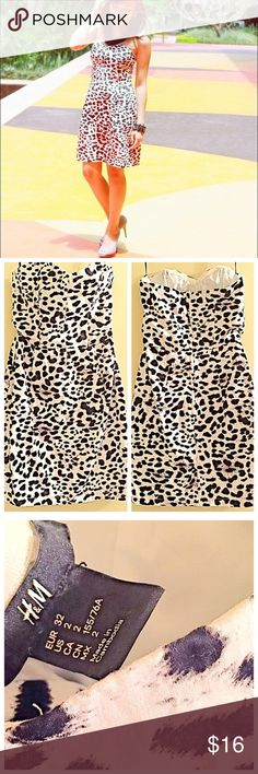 1f962c097247 Animal Print Strapless Dress🐼 🐼 Black and White cheetah print dress