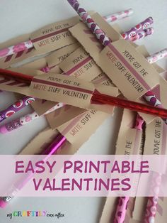 Free Valentine Printables - Over 30 Free Printable Valentines for All Ages! FREE printable valentines for kids and adults! Over 30 favorite cute, fun and pretty Valentine's My Funny Valentine, Valentine Treats, Valentines Day Party, Valentines For Kids, Valentine Day Crafts, Valentine Cards, Valentine's Cards For Kids, Gifts For Kids, Distintivos Baby Shower